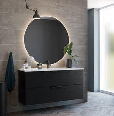 Foss Variant baderomsmøbel med 2 skuffer 120 cm. Sorting, Bathroom Lighting, Mirror, Furniture, Home Decor, Bathroom Light Fittings, Bathroom Vanity Lighting, Decoration Home, Room Decor