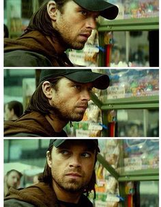 Bucky - I feel like in this scene when the music got louder and louder and drowned out the street noises, it was what was inside Buck's head. Gah. My Bae