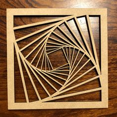 Laser cut tilted square pattern by notwebsafe.
