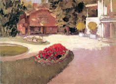 """Gustave Caillebotte (1848-1894) - """"Jardin à Yerres"""" - Huile sur toile - Collection particulière - http://proprietecaillebotte.com/le-peintre/"""
