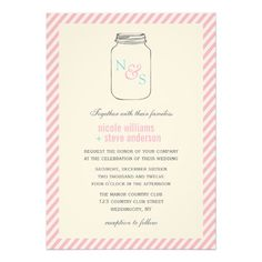 See MoreVintage Mason Jar Monogram Wedding InvitationsIn our offer link above you will see