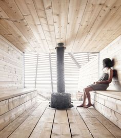 Avanto Architects completes Loyly Sauna for the coastal park in Helsinki, Finland. This Waterfront public sauna will be a part of Helsinki park in Finland.
