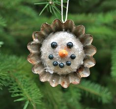 Rusty Tin Snowman Ornament | by HA! Designs - Artbyheather