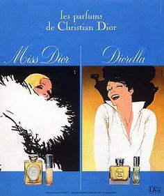 Christian Dior (Perfumes) 1975 Miss Dior, Diorella, Gruau