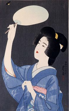 Ito Shinsui (1898-1972), 1934, The second series of modern beauties: Firefly.
