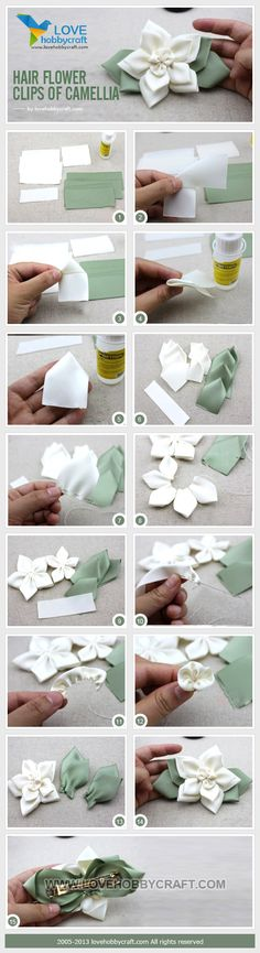 Hair flower clips of camellia