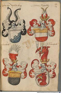 Wappen deutscher Geschlechter Augsburg ?, 4. Viertel 15. Jh. Cod.icon. 311  Folio 34r
