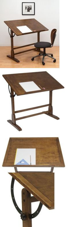 Drawing Boards And Tables 183083: Ponderosa Drafting Table Adjustable Angle  42In Antique Design Drawing Desk