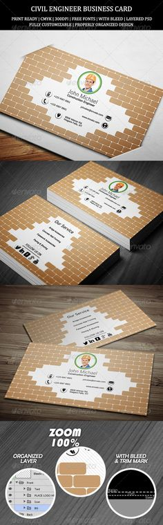 Engineer Business Card PSD Print Templates| Print Ready | Buy and Download: http://graphicriver.net/item/civil-engineer-business-card-1/7270829?WT.ac=category_thumbWT.z_author=ethanfxref=ksioks