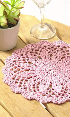 Ravelry: 26-224-AMI Flower-patterned doily pattern by Pierrot (Gosyo Co., Ltd)