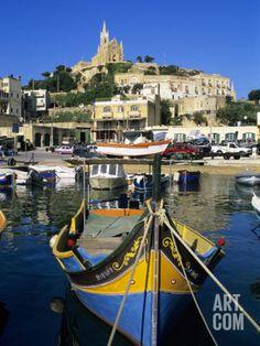 Luzzu Fishing Boat, Mgarr Harbour, Gozo, Malta, Mediterranean, Europe Photographic Print by Stuart Black at Art.com