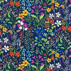 sholto_drumlanrig_print 'Wild Flower Field' available at the #bridgmanartlibrary and on #fineartamerica #floralprint #ditsyfloral #textiledesigner #surfacepatterndesign #pattern #surfacespatterns