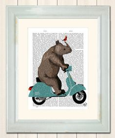 Love this Moped Rhino Dictionary Print by FabFunky on #zulily! #zulilyfinds