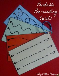 Printable Pre-writing Cards and Busy Bag Idea