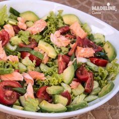 Salata de somon si avocado / Avocado & salmon salad - Madeline's Cuisine Salmon Avocado, Salmon Salad, Cobb Salad, Cookie Do, Cookies Policy, Food Art, Free Food, Potato Salad, Meal Planning