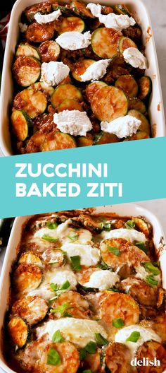 "Zucchini Baked ""Ziti"" Doesn't Involve Any PastaDelish - Keto recipes Vegetable Dishes, Vegetable Recipes, Beef Recipes, Low Carb Recipes, Vegetarian Recipes, Cooking Recipes, Healthy Recipes, Recipies, Zucchini Dinner Recipes"