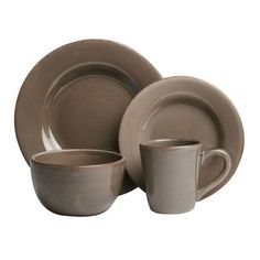 Shop for Tag Sonoma Warm Gray Dinnerware 16-piece Set. Get free delivery at Overstock.com - Your Online Kitchen