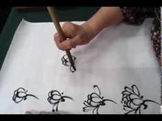 Korean painting (chrysanthemum),한국화(국화 그리기) - YouTube