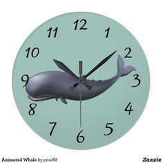 Animated Whale Clock