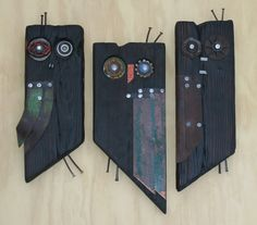 These owls have tunnels in their sides for native bees. Most of these sold last weekend during our Open Studio event.