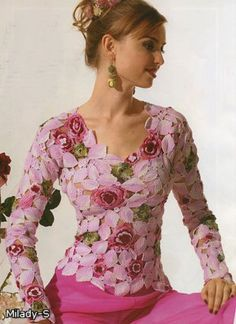"Crochet golden shirt ""Magnolia""!"