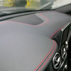 CLA45 Exclusive Package. Wrapped dashboard with red stitching...