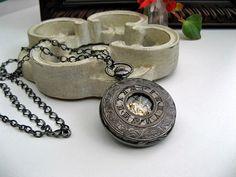 Victorian Steampunk Pocket Watch Necklace by ArtInspiredGifts, $48.00