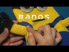 PASO 1. MOCHILA INFANTIL TEJIDA A CROCHET (COMO HACER LAS MANOS) - YouTube