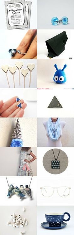 Blue and Black by Georgia on Etsy--Pinned with TreasuryPin.com