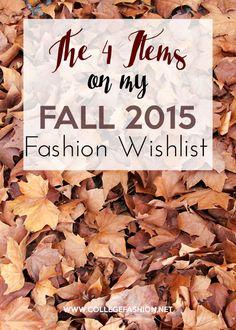 My Fall 2015 fashion wishlist