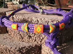 Beaded Rope Halter Horse Tack  Halter hand by HorsetailsBeadwork, $57.00