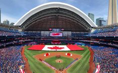 Check out our massive range of Toronto Blue Jays merchandise! Baseball Toronto, One King West, Mlb American League, Canada Summer, Rogers Centre, Toronto Travel, Happy Canada Day, Downtown Toronto, Toronto Blue Jays
