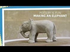 Kids Art Project - Clay Elephant - YouTube