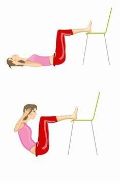 Übung 2: Crunches für einen flachen Bauch  - flacher Bauch: Übungen