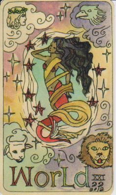 Dame Darcy Mermaid Tarot - The World