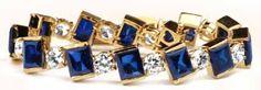 #ClaudetteColbert #hollywoodjewelry Sapphire and Diamond Extravaganza Bracelet