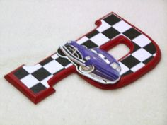 Disney Cars set of 6 letters