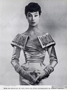 Nina Ricci 1954 Evening Gown