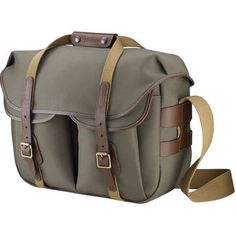 Billingham Hadley Large Pro Shoulder Bag (Sage Fibrenyte Chocolate Leather)