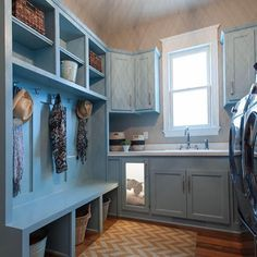 Dog lovers, we have the home for you. Check out this laundry room/mudroom combo with a built-in pet kennel. You know you want one—and this one is for sale. Click the link in our profile for details. #laundryroom #laundryroomdecor #mudroom #petspace #dogkennel #builtin #homedesign #customhome #nortoncommonsstyle #louisvillehomes #homearama2016 #house14 #masonconstruction #homesforsale #nortoncommons