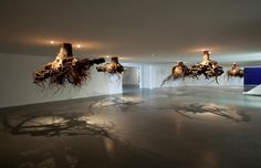 Roots from the ceiling, an installation by Giuseppe Licari http://www.juxtapoz.com/Current/roots-from-above-qhumusq-by-giuseppe-licari — with Rogerio Pina, Justin Mafnas and Johnny Qfortyfive.