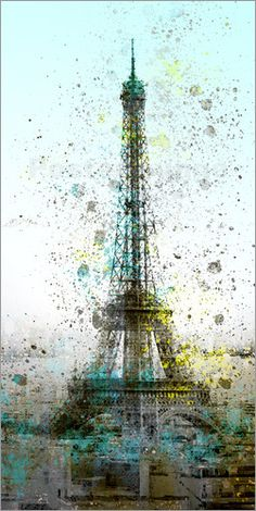 """Bild von Melanie Viola - """"Modern Art Eiffeltower III"""""""
