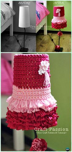 Crochet Dolly Lampshade Free Pattern - Crochet Lamp Shade Free Patterns