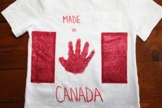 Make your own keepsake handprint Canada Day Shirts! Summer Camp Canada, Canada Day Shirts, Diy Arts And Crafts, Diy Crafts, Canada Day Crafts, My Roots, Diy Organization, Holiday Fun, Art For Kids