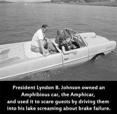 I do hope this is true - http://www.cultofweird.com/transportation/amphicar/