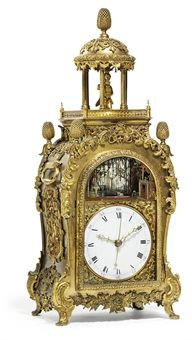 A CHINESE ORMOLU MUSICAL AND AUTOMATON TABLE CLOCK