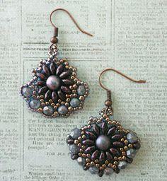 Linda's Crafty Inspirations: Sunflower Earrings vs Gypsy Earrings
