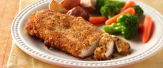 These breaded chicken breasts are crispy and brown on the outside and tender and…