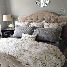 Pottery-Barn-Jolie-Paisley-Duvet-Cover-Queen-2-Standard-Sham-Neutral-Joli-New-0
