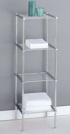 BATHROOM ORGANIZING SOLUTIONS - Organize It All Metro 4-Tier Shelf